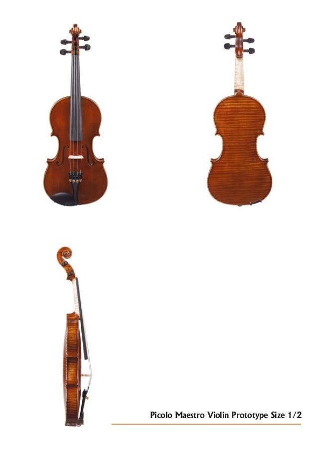 Picolo Maestro Violin Prototype Size 1/2