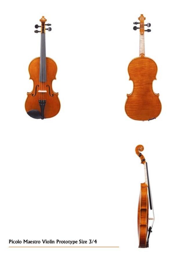 Picolo Maestro Violin Prototype Size 3/4