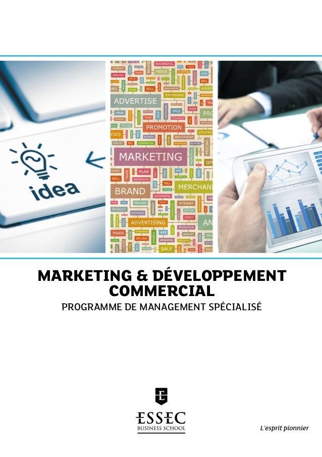 Marketing & Développement Commercial Programme de Management Spécialisé