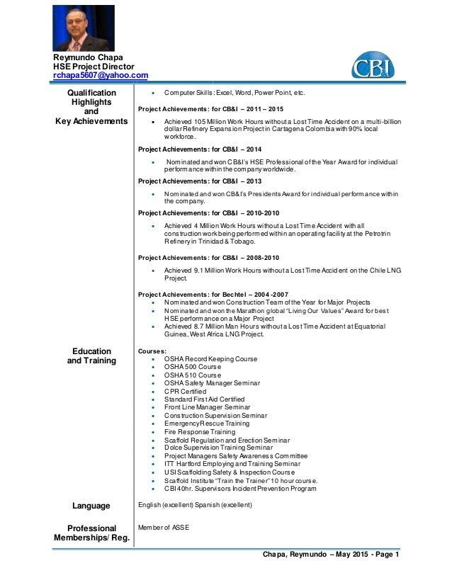 R  Chapa  Resume May  2015