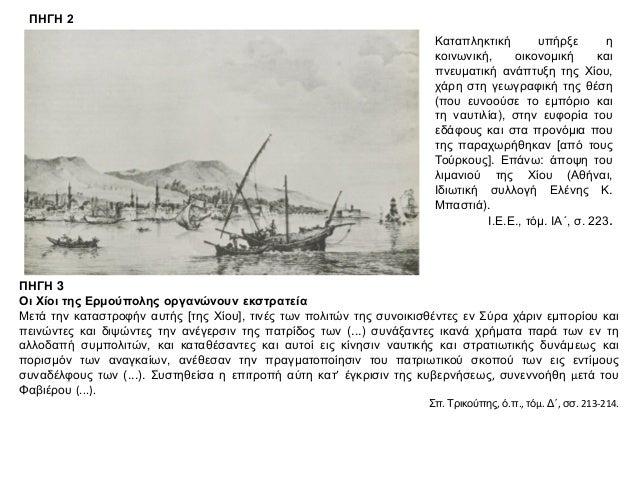 ΘΕΜΑ 4 ΠΗΓΗ 1 Ο αντίκτυπος από την καταστροφή των Ψαρών στα νησιά του Αιγαίου Α΄. Απόσπασμα επιστολής των προκρίτων της Τή...