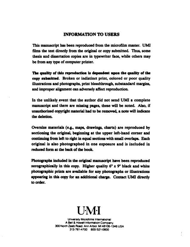 tim stowell dissertation