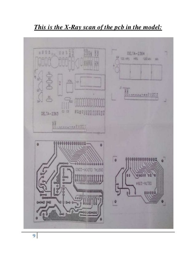 9 This is the X-Ray scan of the pcb in the model:
