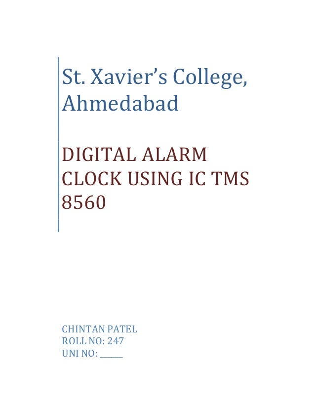 Digital Clock Circuit With Alarm By Lm8560 | #1 Wiring Diagram Source