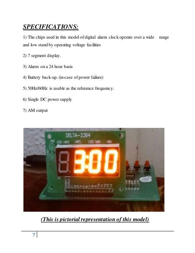digital alarm clock (ic tms 8560)