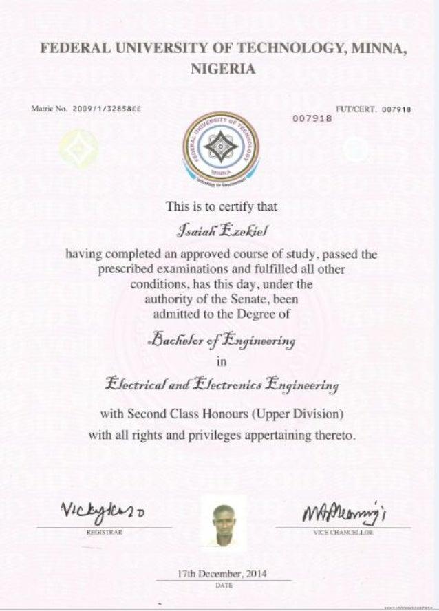 first degree cert pdf