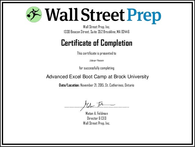 Wall Street Prep, Inc. 1330 Beacon Street, Suite 352 Brookline, MA 02446