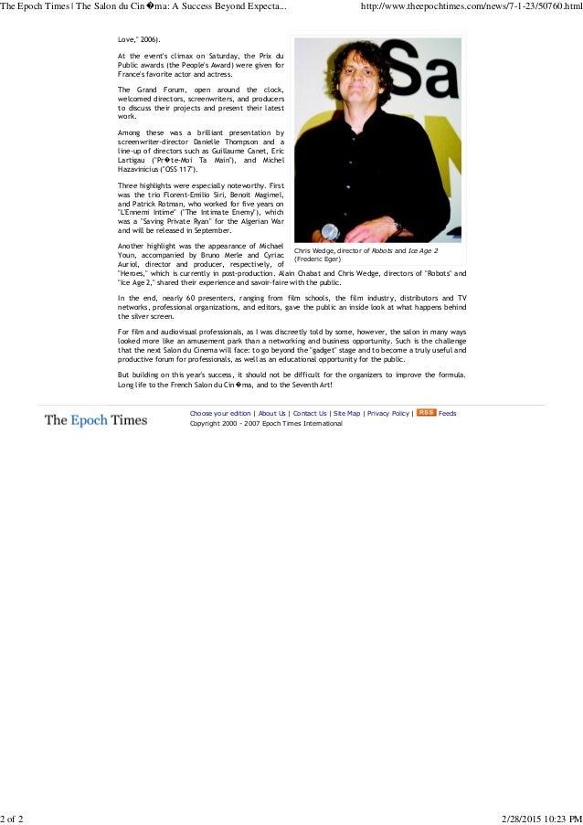 The Epoch Times _ The Salon du Cin_ma_ A Success Beyond Expectations Slide 2