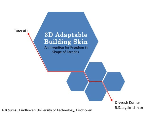 A.B.Suma , Eindhoven University of Technology, Eindhoven  Divyesh Kumar  R.S.Jayakrishnan  3D Adaptable  Building Skin  An...