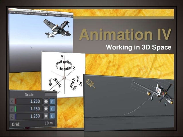 Animation IV Working in 3D Space