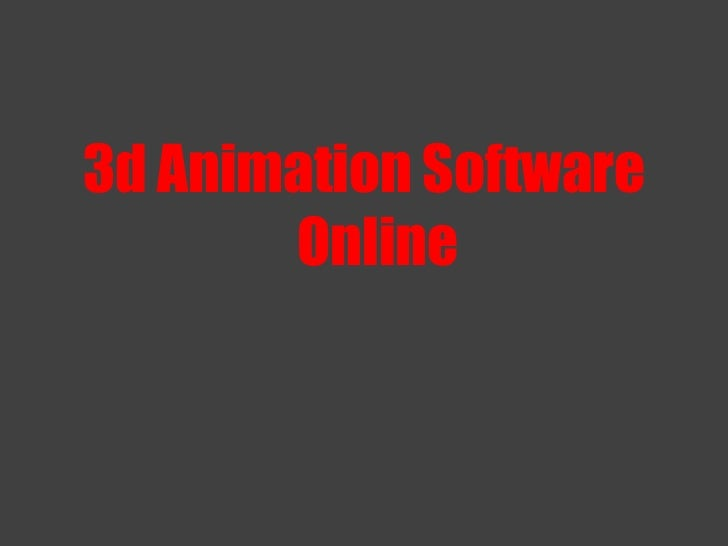 3d Animation Software Online