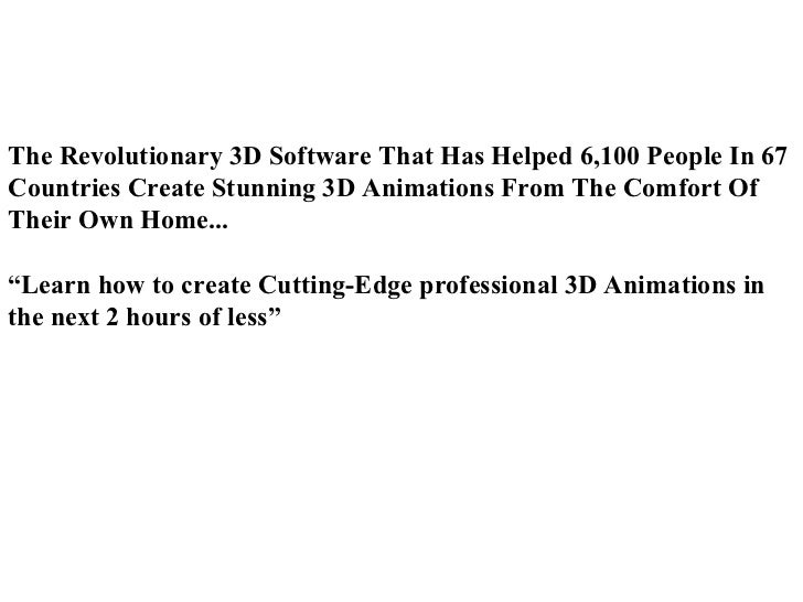 The Revolutionary 3D Software That Has Helped 6,100 People In 67 Countries Create Stunning 3D Animations From The Comfort ...