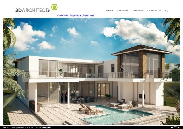 3d Architectural Modeling & Rendering - 3D Architect