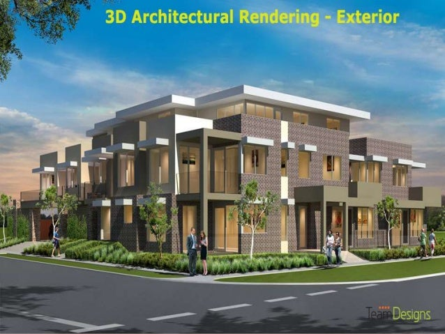 3d Architectural Rendering Exterior