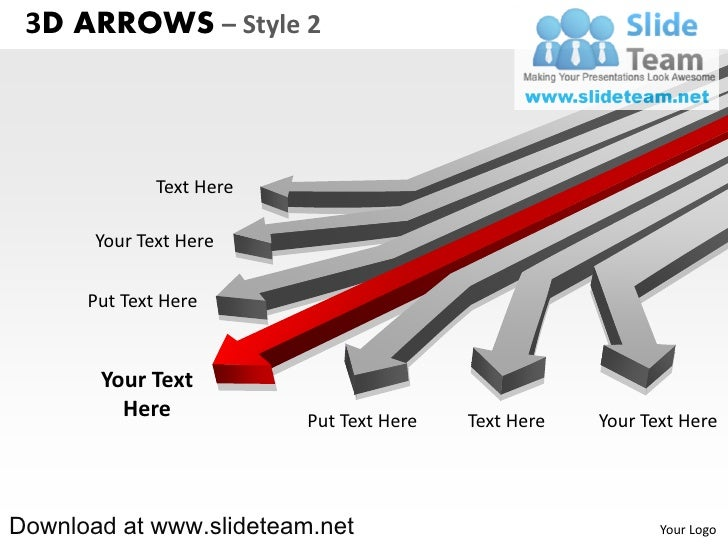3 D Arrows Style 2 Powerpoint Diagrams And Powerpoint