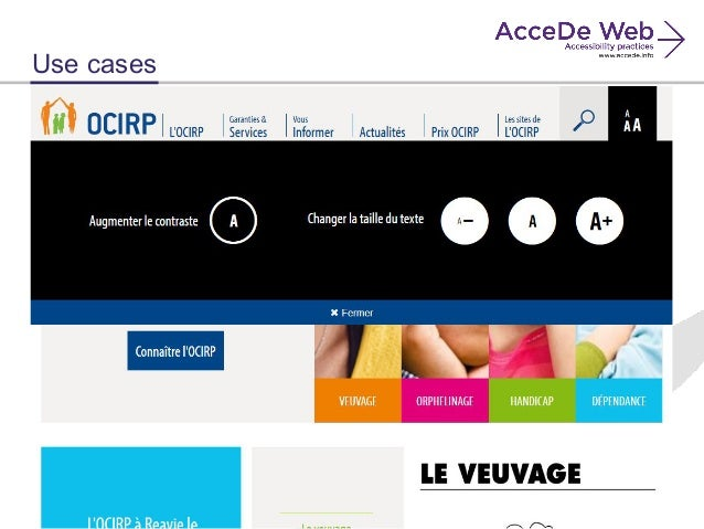 AcceDe Web, a Guide for Accessibility Web Projects, OW2con\'16, Paris.…