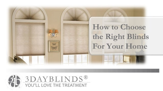 How to Choosethe Right BlindsFor Your Home