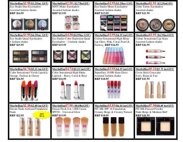 Wholesale Brand Name Cosmetics