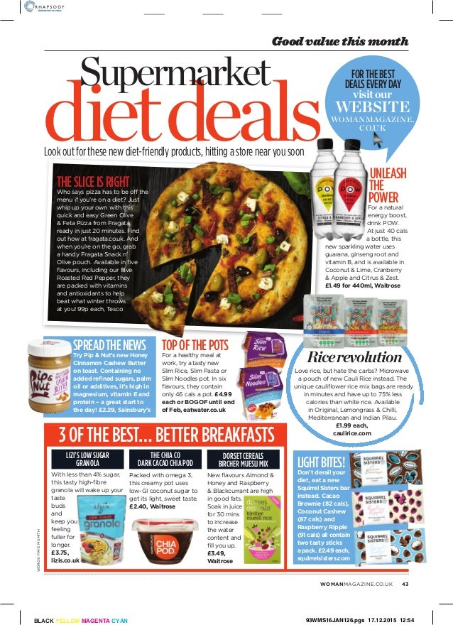 Woman Diet Special 31 Dec 2015 Supermarket Diet Deals