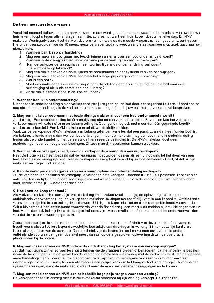 schriftelijk bod voorbeeldbrief 3 d brochure kamsalamander 2 te amersfoort schriftelijk bod voorbeeldbrief