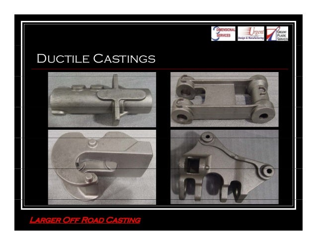 3 Dimensional Services Group Prototype Castings
