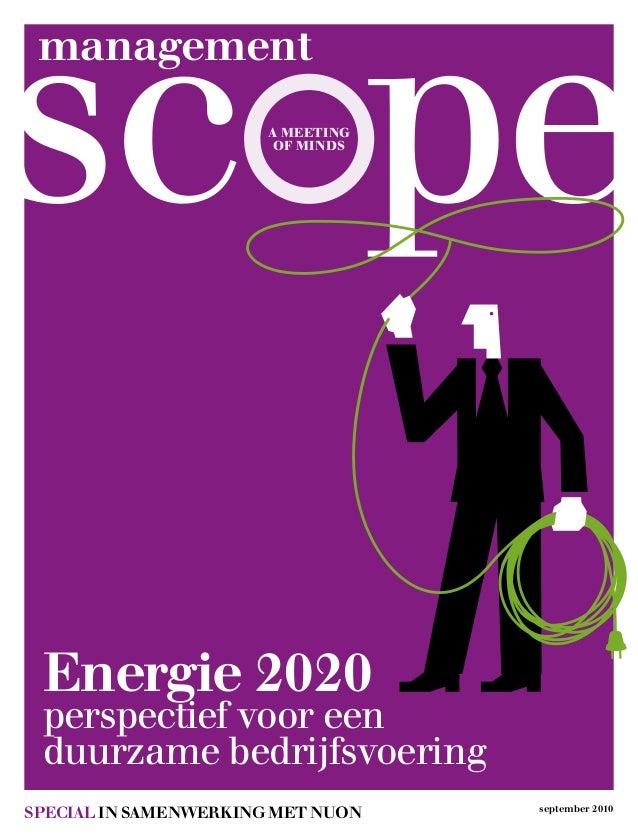 management a meeting of minds special in samenwerking met nuon september 2010 Energie 2020 perspectief vooreen duurzame b...
