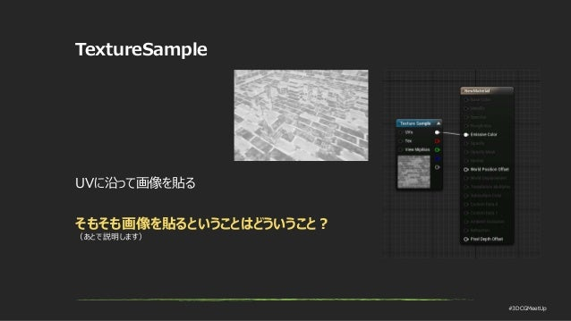 #3DCGMeetUp TextureSample UVに沿って画像を貼る そもそも画像を貼るということはどういうこと? (あとで説明します)