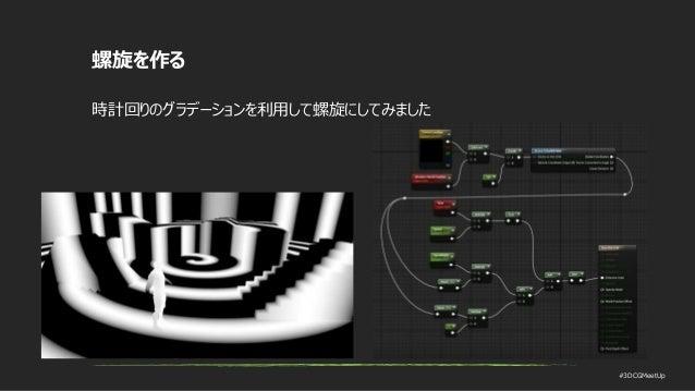 #3DCGMeetUp 螺旋を作る 時計回りのグラデーションを利用して螺旋にしてみました