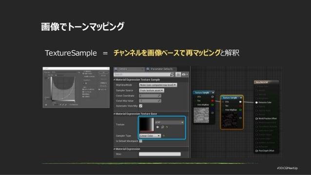 #3DCGMeetUp 画像でトーンマッピング TextureSample = チャンネルを画像ベースで再マッピングと解釈
