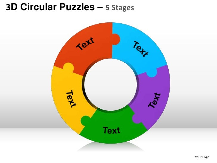 Circular puzzles - 33 best Puzzles PowerPoint templates