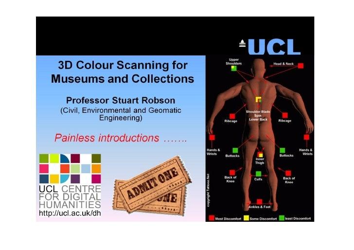 3D Colour Scanning