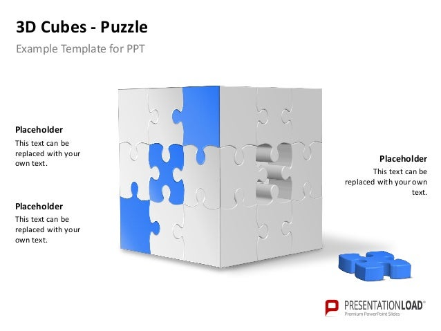Powerpoint 3 d cubes puzzle template 4 3d cubes puzzle powerpoint template 1 placeholder 2 toneelgroepblik Gallery