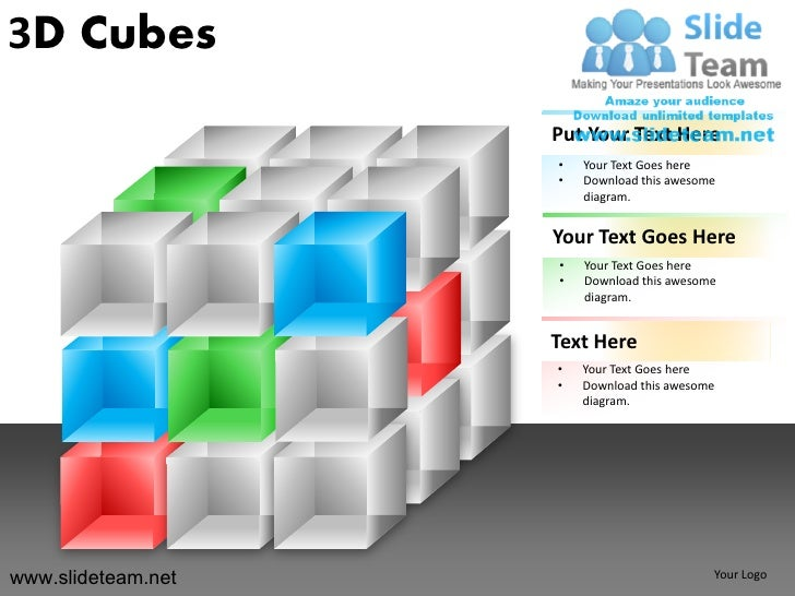 3D Cubes                    Put Your Text Here                    •   Your Text Goes here                    •   Download ...