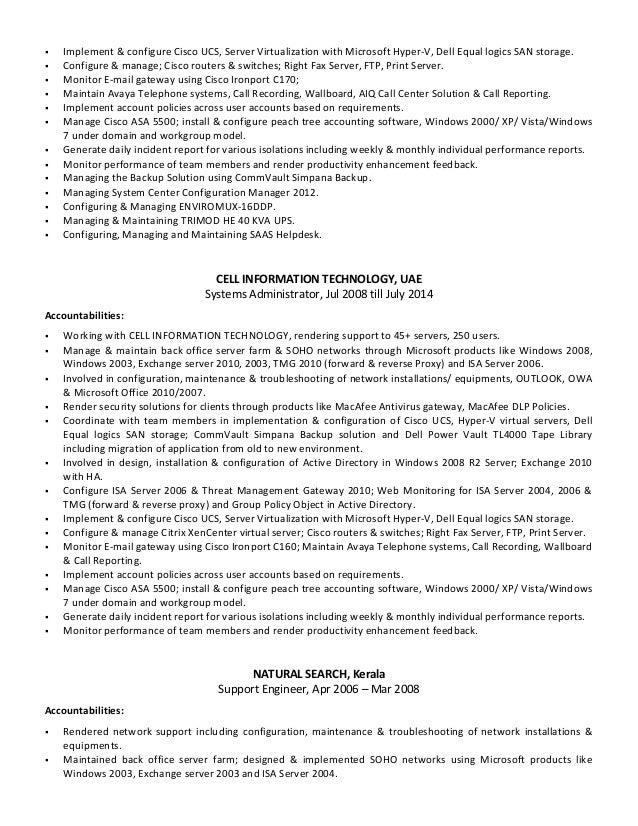 resume thomas job