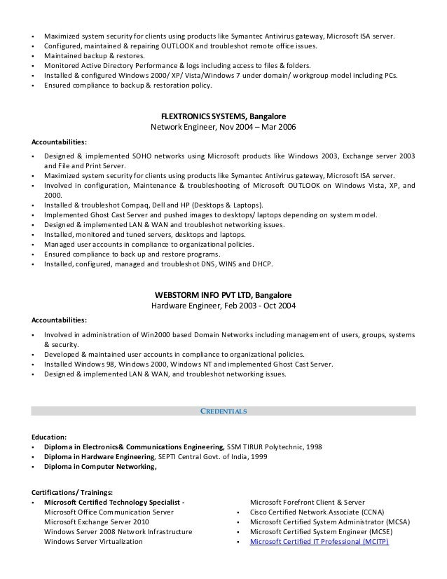 Network Associate Sample Resume. Click Here To Download This