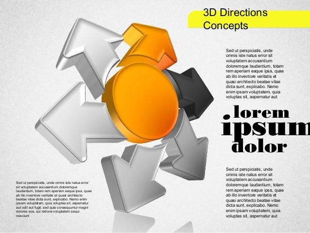 3D Directions Concepts lorem ipsum dolor Sed ut perspiciatis, unde omnis iste natus error sit voluptatem accusantium dolor...