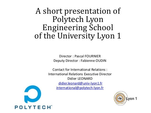 A short presentation of the Polytech Lyon Engineering School of the U…