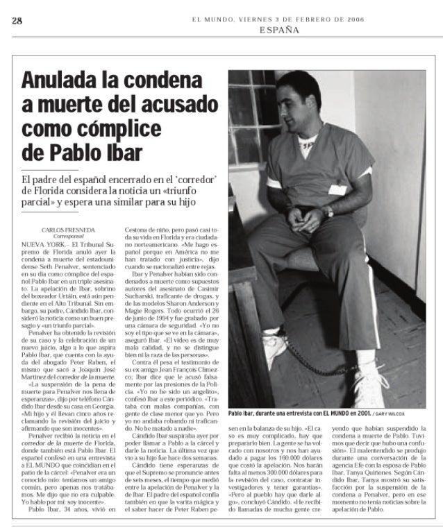 """Anulada la condena a muerte del acusado como cómplice de Pablo Ibar"""""""