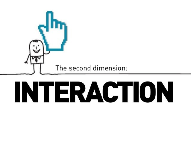 The second dimension:  INTERACTION