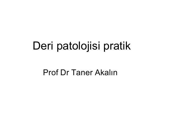 Deri patolojisi pratik Prof Dr Taner Akalın