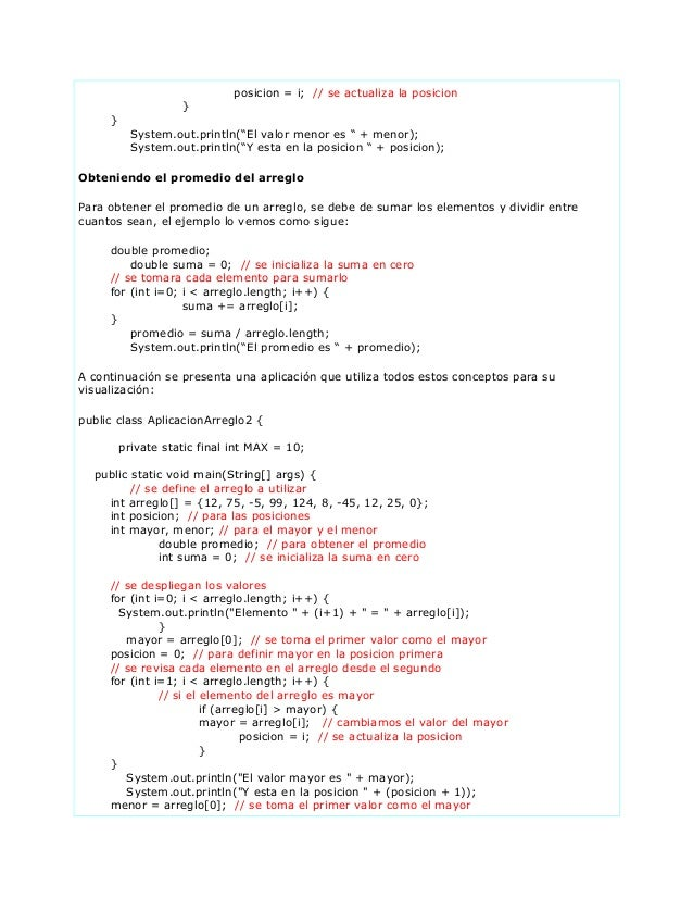 3 desarollo manejo datos capitulo 1 -02 operaciones con arreglos (3) Slide 3