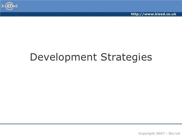 Development Strategies<br />