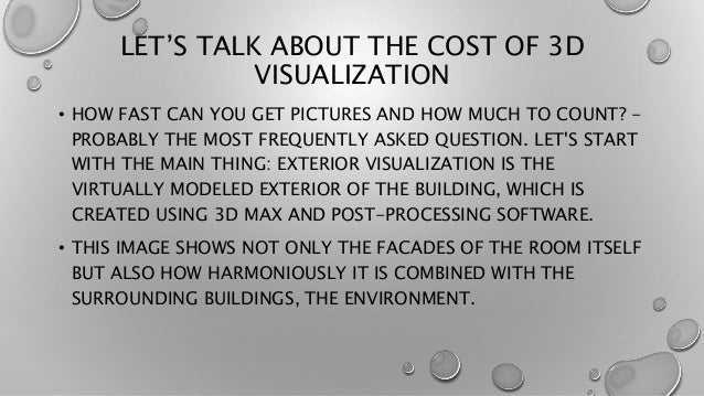 LET'S TALK ABOUT THE COST OF 3D VISUALIZATION • HOW FAST CAN YOU GET PICTURES AND HOW MUCH TO COUNT? - PROBABLY THE MOST F...
