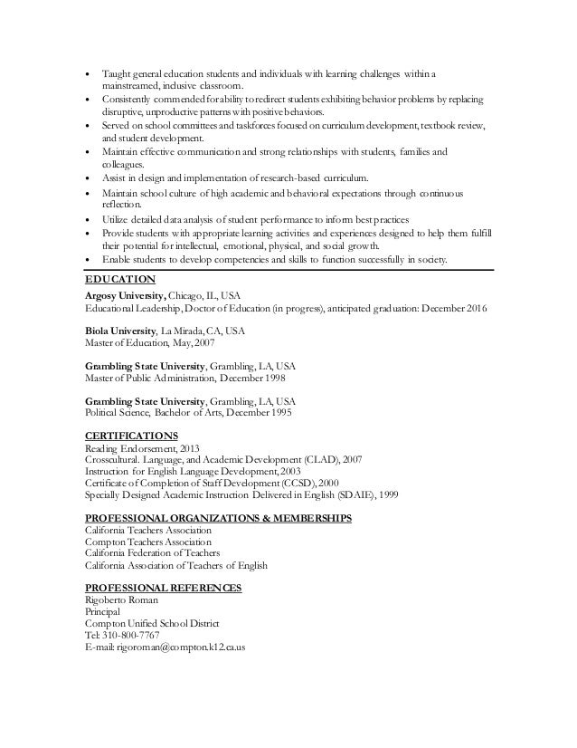 Education Resume In Progress - Vosvete.Net