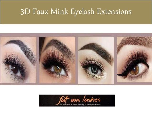 3D Faux Mink Eyelash Extensions