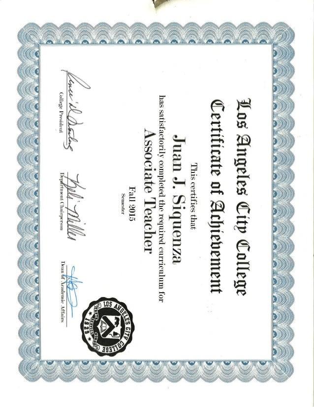 Associate Teacher Certificate