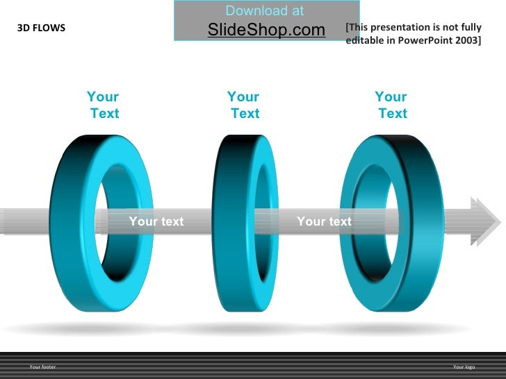 Your  Text Your  Text Your  Text Your text Your text 3D FLOWS Your footer Your logo [This presentation is not fully editab...