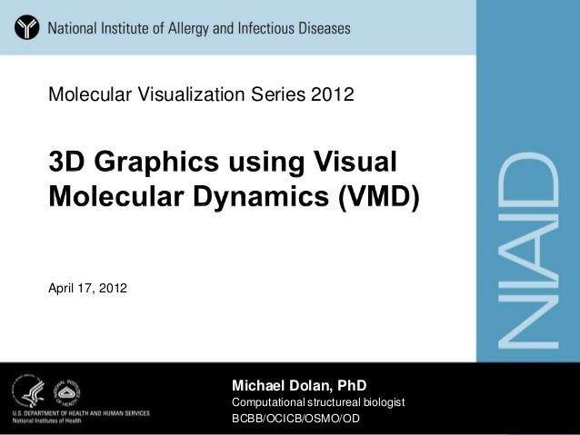 3D graphics using VMD