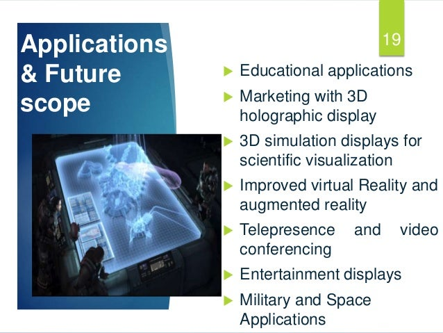 3d holographic projection ppt