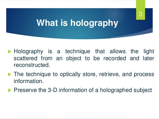 3d Holographic Projection Technology Pdf